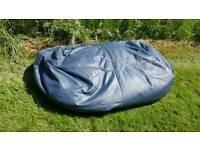 Giant XXXL BEANBAG BED/SOFA/CHAIR FAUX GREY LEATHER