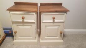 Wooden Bedside Cabinet x2