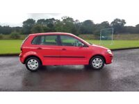 2006 Red Volkswagen Polo 1.2 5 door MOT till Oct 2018
