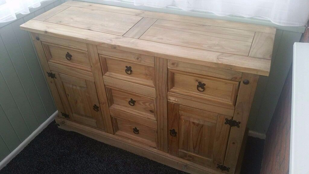 Solid wood sideboard. £70