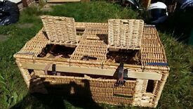 Wicker rabbit/small animal hutch