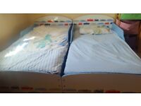 Toddler bed by Worlds Apart excellent condition with everything Price ONO