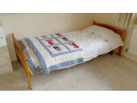 Wooden solid pine standard single bed £45 ono