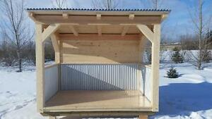 UNIQUE TIMBER-FRAME OUTDOOR KITCHEN OR WOOD SHED