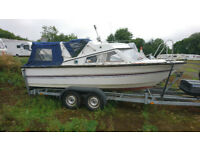 Morebas 17ft Fishing Boat / Day Boat + Mercury 75hp Outboard + Twin Axle Braked Trailer