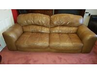 Free Leather large sofa