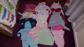 Girl bundle of clothes 0-3 3-6