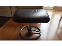 Vintage Retro Style Footstool Foot Stool Pouffe Side Table Faux Leather