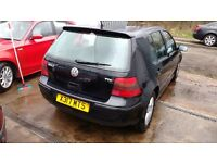 2001 VW GOLF 19TDI 5 DOORS BLACK ALLOYS MOT PLUS WARRANTY