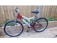 Apollo al6000 2x aluminium front and back suspension mountain bike