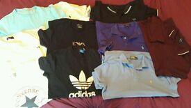 Ralph Lauren Fred Perry E A Adidas Converse tshirts