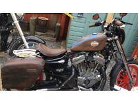 CUSTOM BUILT 2004 HARLEY DAVIDSON SPORTSTER 883 - VINTAGE/RETRO DESIGN!!ONLY 17K MILES ******