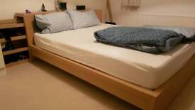 IKEA Malm bed with mattress and head piece