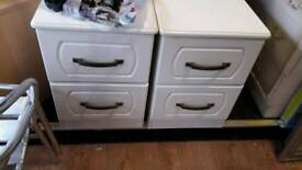 2 matching bedside cabinets
