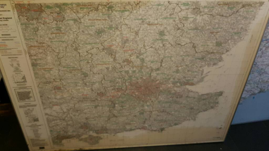 Map of south of england