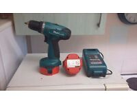 makita 14.4 drill with 2 good batteries