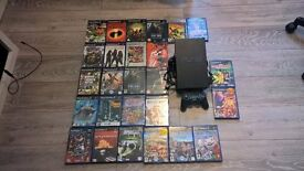 PS2 with controller and 26 games