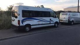 Vauxhall movano camper van 12v off grid system and 240v hook up