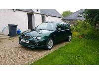 2004 MG ZR 105 (1.4) in British Racing Green, 59k, MOT to October, ideal first car/cheap runabout