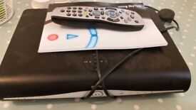 Sky HD box, remote control & sky internet wifi broadband hub