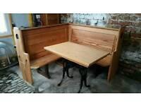 Corner bench sets
