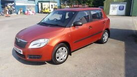 Very Low milage ONLY 31200 mls with full 12 mts MOT, 2008 Skoda fabia HP1 1.2cc £2600