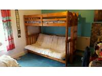 Wooden bunk/futon/bed
