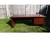 Verco Corniche Office Desk, Cherry Finish