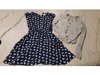 Beautiful Yumi boutique dress and next cardigan 9 - 10yrs, excellent condition.