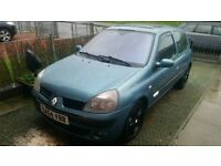 renault clio 1149cc 04 plate 495 no offers swap for van