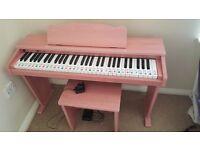 Pink children's piano