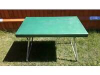 Folding metal camping picnic table