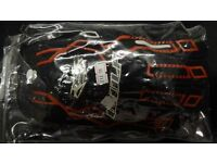 wulfsport gloves motocross motox quad enduro adult size xl black with red