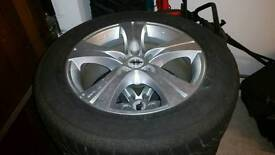 "18"" Winter tyres and alloy rims"