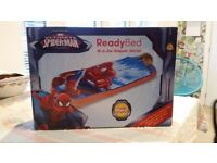 New Ultimate Spiderman Ready Bed - the inflatable solution for sleepovers