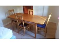 Dining Table (Expandable) with four chairs