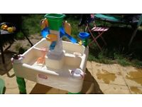 Sand and water table. Super fun!