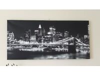 "NEW YORK SKYLINE CANVAS PRINT, 42"" X 20"""
