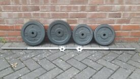 BODYMAX HAMMERTONE WEIGHTS SET WITH BARBELL