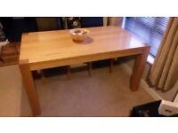 Oak Veneer Kitchen Table