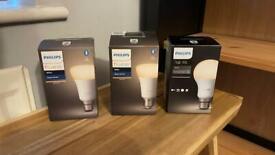 Various Philips Hue bulbs