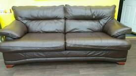 two leather sofa