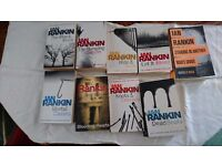 9 Ian Rankin books for sale, mostly from the Inspector Rebus series