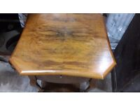 Wooden Sewing Work Box Table Legs Mid-Century Retro