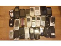 26 mobile pones untested spairs repair 1 ipod in with them joblot only wont separate