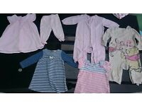 Baby girls clothing 3-6 months very good condition as