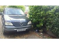 Mercedes ml 320 with lpg conversion spares or repairs