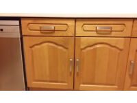 Kitchen oak door fronts with handles and hinges - wall and floor units