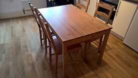 TABLE 4 CHAIRS IKEA FREE DELIVERY SW AND CR LONDON