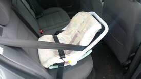 """Brittax """"rock-a-bye"""" baby car seat"""